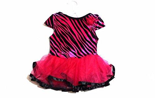 Baby Girls Fuchsia Zebra Print Tutu Dress Size 6-12 Months