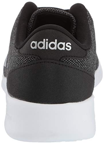 adidas Women's Cloudfoam Qt Racer Sneaker, Black/Silver Metallic/Grey, 5.5 M US by adidas (Image #2)