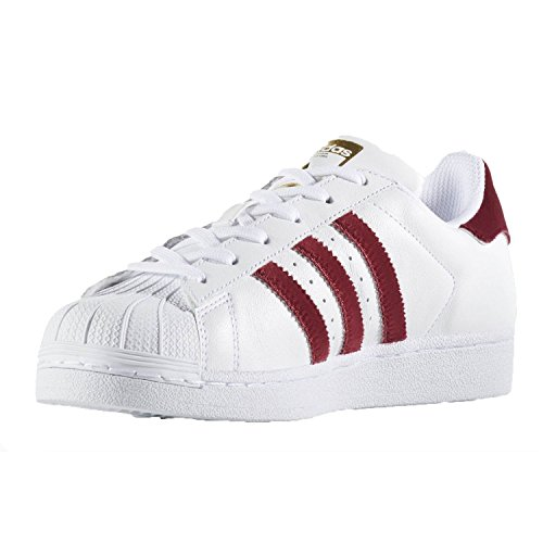 adidas superstar bianco e bordeaux