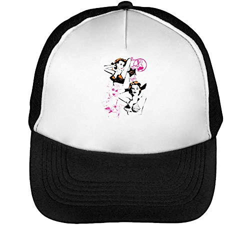 Girls Up 100 Hombre Gorras Snapback Negro Beisbol Lolita Blanco Pin HqtAwx76E