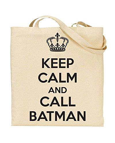 Handbag Bag Calm Novelty TeeDemon® And Keep TOTE CALL Shopping by Gift BATMAN BwXY7dwq