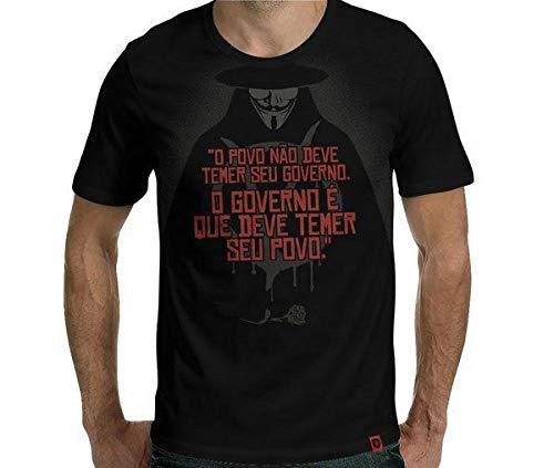 Camiseta O Governo Tamanho:g;cor:preto