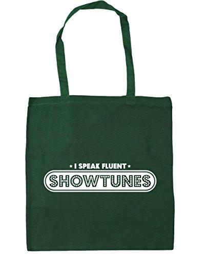 Green I Bottle HippoWarehouse Fluent Beach 42cm x38cm Shopping Tote Speak litres Gym 10 Showtunes Bag Fq6wT1