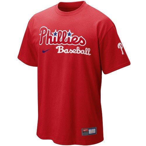 2005 Team Jersey - Phillies MLB Nike Practice Jersey Tee Shirt XL