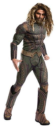 [Rubie's Costume Co. Men's Aquaman Adult Deluxe Costume, As Shown, X-Large] (Aquaman Costumes)