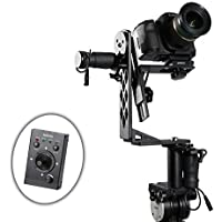 Movo Photo MGB-5 Aluminum Motorized 360° Pan/Tilt Gimbal Head for Tripods & Jibs - Supports Cameras up to 11 LBS