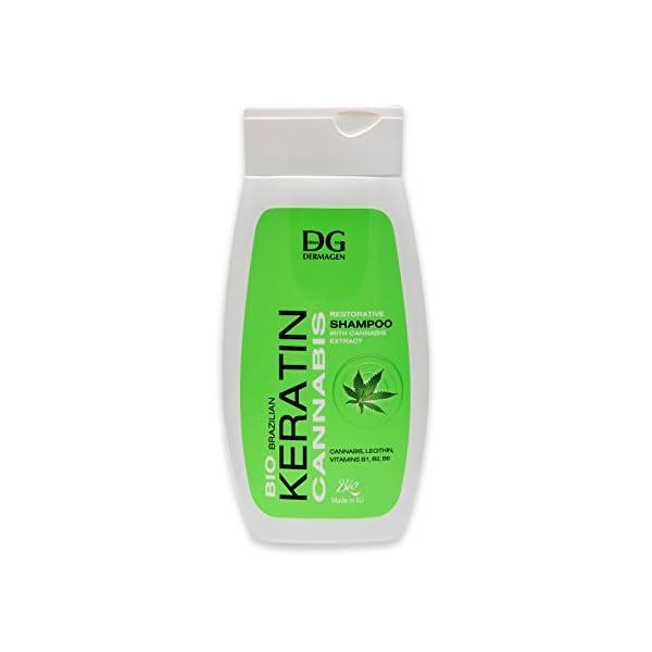 Brazilian Bio Keratin Cannabis Shampoo, 255 ml