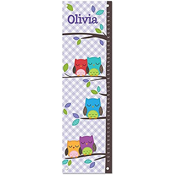 Growth Chart Ruler Personalized Height Chart Baby Shower Gift First Birthday Gift Owl Baby Amazon Com