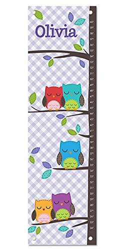 (Personalized Growth Chart Ruler Owl Nursery Décor)
