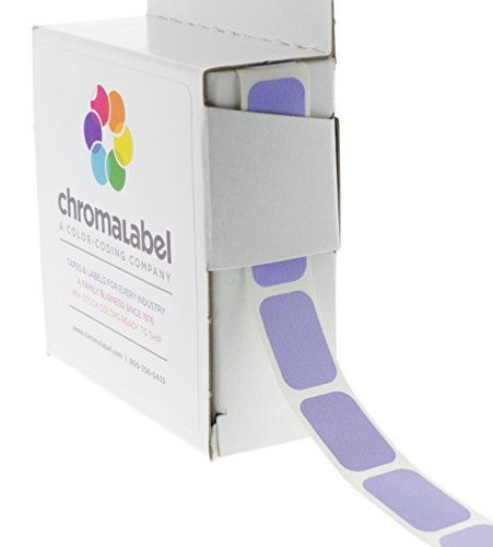 "1/2"" x 3/4"" Lavender Square Color-Coding Stickers 