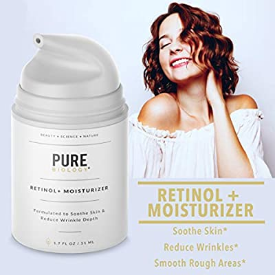 Premium Retinol Cream Face Moisturizer with Hyaluronic Acid, Vitamins B5, C & E, Argan Oil & Breakthrough Anti Aging, Anti Wrinkle Complexes – Face, Neck & Eye Cream Skin Care for Men & Women