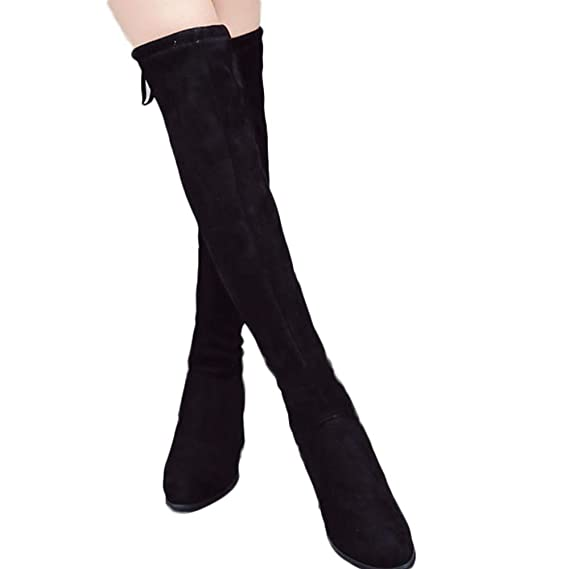 Amazon.com: Gyoume Long Boots Womens,Winter High Heel Boots Lace Up Boots Winter Boots Keen Legth Boots: Clothing