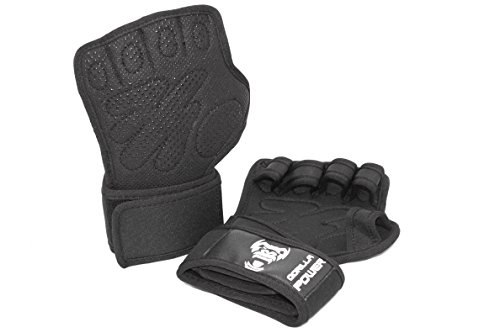 GorillaPower CrossFit Training Gloves V2.0 – Advance Wrist Support With FULL Palm Protection – Comfortable & Strong Grip – Great For WOD, Gym Workouts, Weightlifting & Cross Training