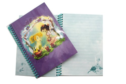 (Purple Disney Fairies and Tinkerbell 50 Page Sprial Bound Notebook)