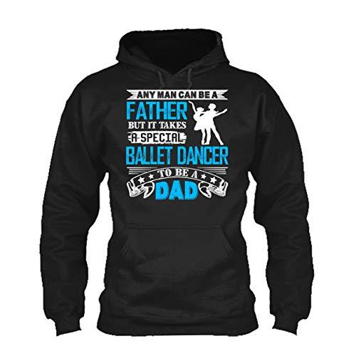 LightRed Cool Ballet Dancer Dad Tshirt, Sweatshirt Design, Hoodie (M,Black) by LightRed