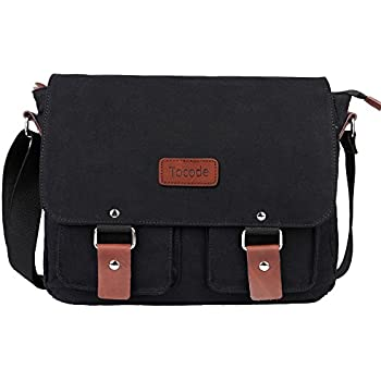 Amazon.com: Plemo Men's Small Multipurpose Canvas Shoulder Bag ...
