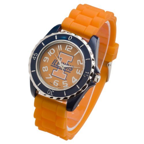 (ILLINOIS FIGHTING ILLINI JELLY WATCH-UNIVERSITY OF ILLINOIS WATCH)
