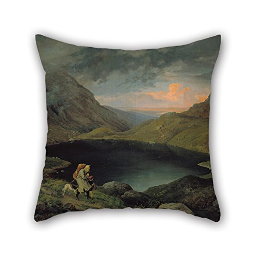[Loveloveu Pillowcover Of Oil Painting Gustav Karl Ludwig Richter - Teich Im Riesengebirge,for Couples,her,dinning Room,kids Boys,home Office 16 X 16 Inches / 40 By 40 Cm(double] (Im The Pope Costume)