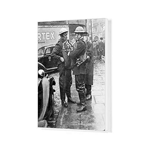 20x16 Canvas Print of Firemen had to use Breathing Apparatus When Fighting The fire (11259829)