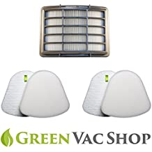 GreenVacShop 2+1 Pack Shark Navigator Lift-Away NV350, NV351, NV352, NV355, NV356E, NV357, NV360, NV370, NV391, UV440, UV490, UV540 Replacement Filter Set, 2 Foam+2 Felt+1 HEPA Filters, XFF350 XHF350