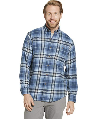 Good Flannel - Dam Good Supply Co Men's Long Sleeve Flannel Shirt Large Sargasso Sea