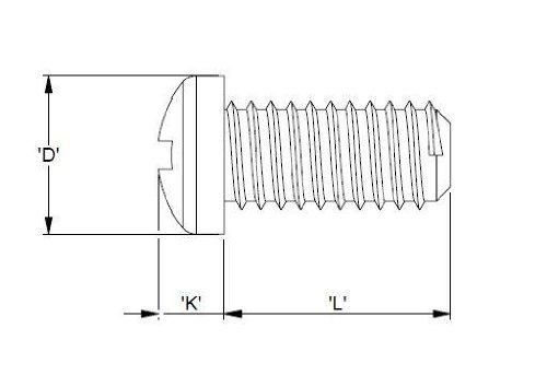 Kunststoffschraube M5 50mm Kreuzschlitz DIN EN 34812 10 Stück