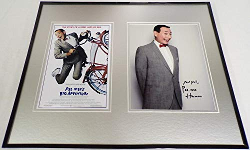 Photo Herman Signed - Pee Wee Herman Signed Framed 16x20 Photo Poster Display Pee Wee's Big Adventure