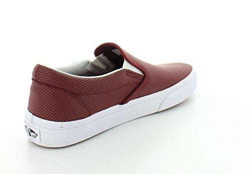 Varevogne Unisex Klassiske Slip-on (perf Læder) Skate Sko Port / Bordeaux QbFF0