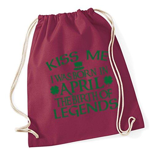 Sack legends Gym born was HippoWarehouse School Cotton Kiss me Bag in the 12 Kid birth I of 37cm April Drawstring Burgundy litres x 46cm v6vT4q