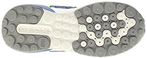 GEOX J ASTEROID BOY A - Zapatillas para niños Multicolor (Fluo Yellow / Royal)