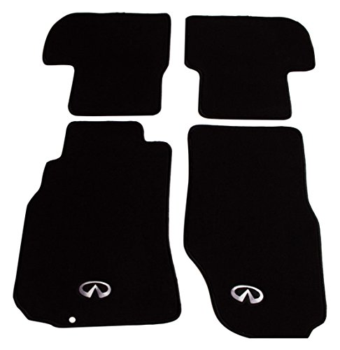 Rxmotor Infiniti G35 Coupe Carpet Floor Mat Set Fits 4 Pieces with Logo Solid (Coupe Mat)