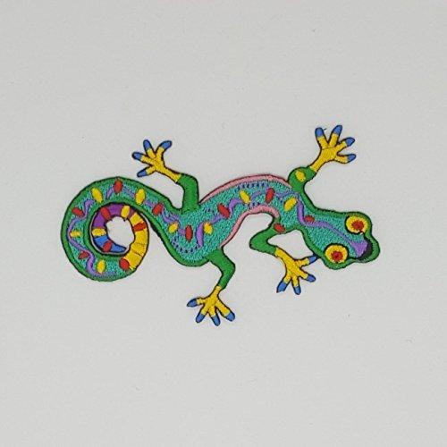Gecko Crewel Embroidery Kit Fantasy Needle Work Animal Wall Lizard Fabric Art (Fabric Crewel)