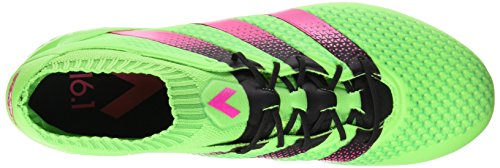 adidas Ace 16.1 Primeknit Fg/Ag, Zapatillas de Running para Hombre Verde / Rosa / Negro (Versol / Rosimp / Negbas)