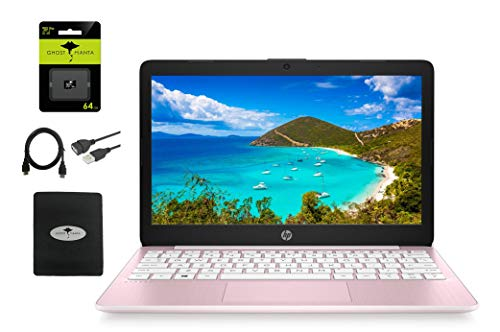 """2021 HP 11.6"""" HD Laptop for Student and Home use, Intel Celeron N4020, 4GB RAM, 64GB eMMC, Webcam, WiFi, HDMI, 1 Year Office 365, (Google Classroom or Zoom Compatible), w/64GB SD Card, GM Accessories"""