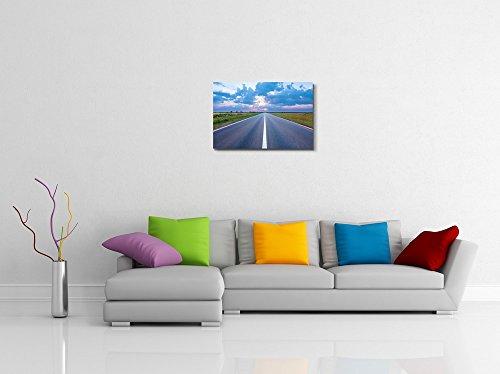 Beautiful Landscape Scenery Asphalt Road Highway Towards the Rising Sun Wall Decor