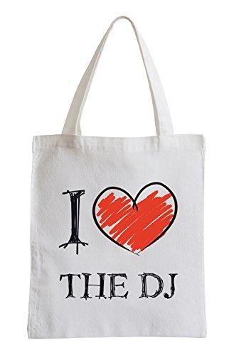 Amo il Dj Fun sacchetto di iuta