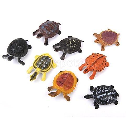 Lot 8pc Plastic Tortoise Turtle Model Sea Creature Kids Toy Party Bag Filler
