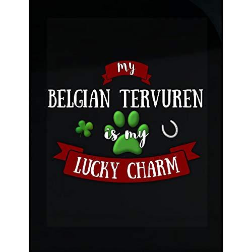 My Belgian Tervuren is My Lucky Charm Custom Dog Owner Gift - Sticker