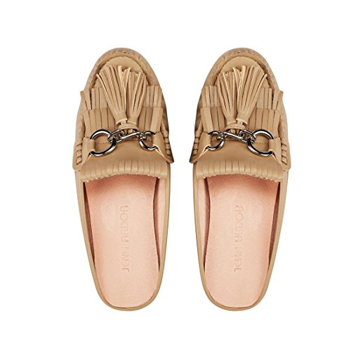 Flat Tassel Women��s JENN Loafer Shoes Mule Beige ARDOR Shoes Slip on E0BwSqw7x5