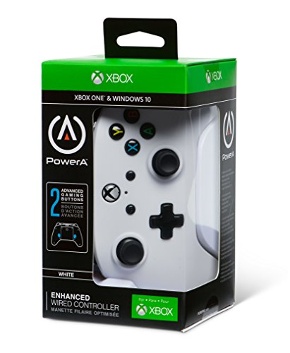 Enhanced Wired Controller for Xbox One - White, gamepad, wired video game controller, gaming controller, Xbox One, works… 9