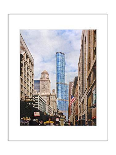 5x7 Matted Photograph Chicago Skyscraper Trump Tower Architectural Artwork