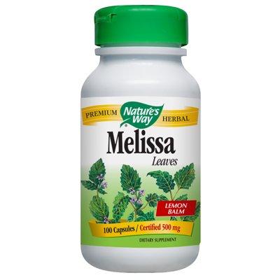 Nature's Way Melissa Lemon Balm Leaf 100 Caps (Pack of - Leaves Melissa