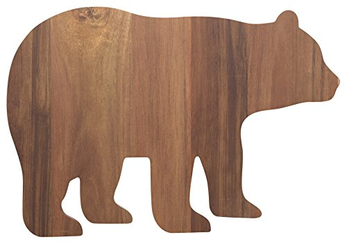 Now Designs 5071001 Carved Acacia Serving/Cutting  Board, Boris Bear (Cabin Cutting Board)