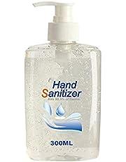 Refreshing Hand Sanitizer Gel, Washless Hand Soap Gel, Super-Large Capacity Household Cleaning Gentle Hydrating Hand Sanitizer Soothing Gel,Non-irritating,Pump Bottle 300ML