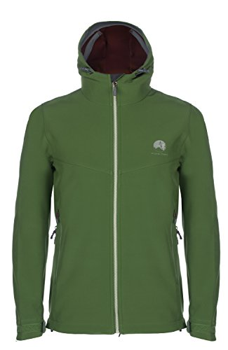 Mishmi Takin Misti Water Resistent, Wind Resistent, Fleece-Lined Soft Shell Men's Canopy Green Jacket, Medium