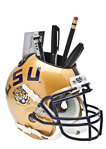 Schutt NCAA LSU Tigers Football Helmet Desk Caddy, Alt. 2009 (Tigers Helmet Lsu Team)