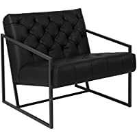 Flash Furniture HERCULES Madison Series Black Leather Tufted Lounge Chair