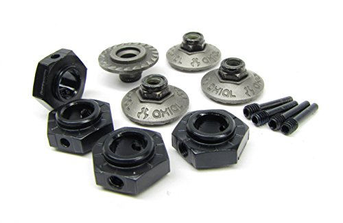 Axial 1/8 Yeti XL 17mm Hex Hubs & Wheel Washer Nuts (Alum) Monster Buggy AX90032
