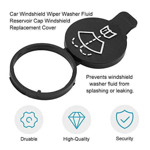 Car Auto Windshield Wiper Washer Fluid Reservoir Cap Windshield Replacement Cover for GMC for Chevrolet for Buick for Cadillac-Black