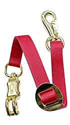 Adjustable Heavy Duty Trailer Tie Strap Panic Snap Bull Snap Horse Pony (Red)